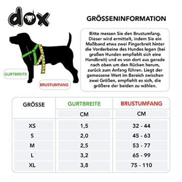 DDOXX Hundegeschirr Air Mesh, Step-In, verstellbar, gepolstert | viele Farben & Größen | für kleine, mittlere & große Hunde | Brust-Geschirr Hund Katze Welpe groß | Katzen-Geschirr klein | Grün, XS - 5