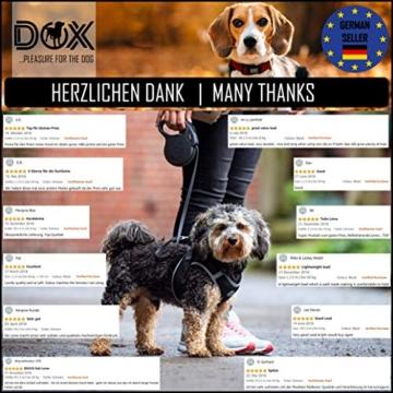DDOXX Roll-Leine reflektierend, ausziehbar | viele Farben & Größen | für kleine & große Hunde | Gurt-Leine Hundeleine einziehbar Welpe Katze | Hundeleinen Zubehör Hund | S, 4 m, bis 10 kg, Blau - 7