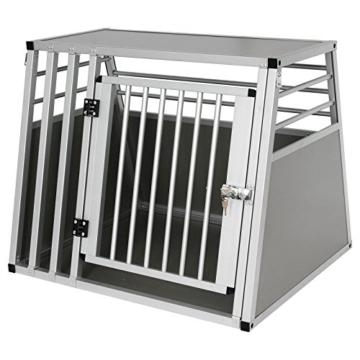 EUGAD Hundebox Transportbox Hundetransportbox Alu Reisebox Gitterbox Box L 80 x B 65 x H 65 cm 0061HT - 4