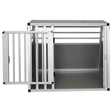 EUGAD Hundebox Transportbox Hundetransportbox Alu Reisebox Gitterbox Box L 80 x B 65 x H 65 cm 0061HT - 6