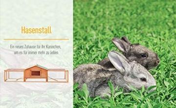 Pawhut Hasenstall Hasenkäfig Kaninchenstall Kaninchenkäfig Kleintierstall mit Freigehege L309 x B79 x H86cm - 3