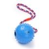 PetPäl Ball mit Seil Naturkautschuk - WurfballHundespiel-Ball mit Schnur - Hundeball Ø 7cm - Bälle Spielzeug am Seil für Hunde - Kauspielzeug aus Naturgummi - Hunde-Spielzeug - 1
