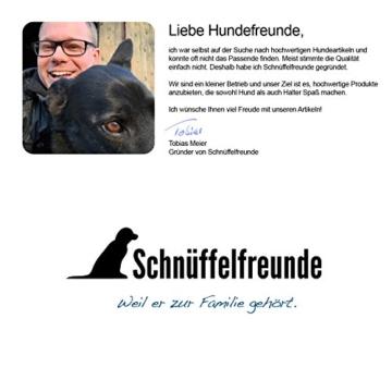 Schnüffelfreunde Lederhalsband Hund (XXL - 55-65cm, Blau) - 8