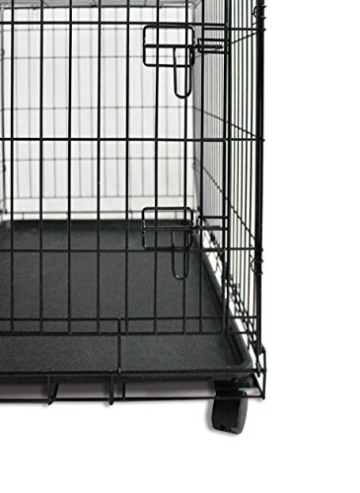 Simply Maison L   Hundekäfig   Transportbox   Drahtkäfig mit 2 Türen, schraubbaren Rollen und Tragegriff   ( 91,5cm x 58cm x 68,5cm ) - 2