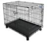 Simply Maison L | Hundekäfig | Transportbox | Drahtkäfig mit 2 Türen, schraubbaren Rollen und Tragegriff | ( 91,5cm x 58cm x 68,5cm ) - 1