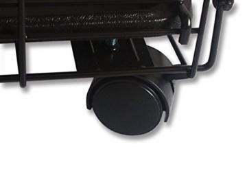 Simply Maison L   Hundekäfig   Transportbox   Drahtkäfig mit 2 Türen, schraubbaren Rollen und Tragegriff   ( 91,5cm x 58cm x 68,5cm ) - 3