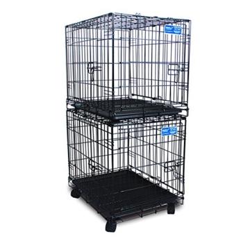 Simply Maison L   Hundekäfig   Transportbox   Drahtkäfig mit 2 Türen, schraubbaren Rollen und Tragegriff   ( 91,5cm x 58cm x 68,5cm ) - 5