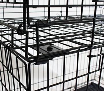 Simply Maison L   Hundekäfig   Transportbox   Drahtkäfig mit 2 Türen, schraubbaren Rollen und Tragegriff   ( 91,5cm x 58cm x 68,5cm ) - 6