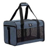 X-ZONE PET Airline Approved Soft-Sided Pet Travel Carrier for Dogs and Cats, Medium Cats Small Cats Carrier,Dog Carrier for Small Dogs, Portable Pet Travel Carrier (Medium, Blue) - 1