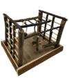 Dehner Vogelzubehör Spielzeug Matchfield, ca. 35 x 29 x 25 cm, Holz/Sisal, natur - 1