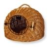 Dogit Korbhöhle mit Gitter, für den Transport von Hunden oder Katzen, aus Weide geflochten, 45x36x40cm, braun - 1