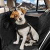 HundeHero ®️ Hundedecke 137x147cm - [1x] Hundedecke Auto Rückbank mit [2X] Befestigung für Haltegriffe - mit Sichtfenster - inkl. Aufbewahrungstasche & Anschnaller - Wasser- & schmutzabweisend - 1