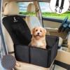 Wimypet Robust Hunde Autositz, Rückbank Vordersitz Hundesitz für Kleine Mittlere Hunde, Wasserdicht Faltbar Autositzbezug mit Sicherheitsgurt - 1
