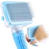 ACE2ACE Haustier Hundebürste Katzenbürste, Haustier Bürsten, Haar Entferner Haustierbürste für Langhaar und Kurzhaar, Sauberes Haustierhaar von der Bürste mit Einem Knopf - 1