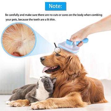 ACE2ACE Haustier Hundebürste Katzenbürste, Haustier Bürsten, Haar Entferner Haustierbürste für Langhaar und Kurzhaar, Sauberes Haustierhaar von der Bürste mit Einem Knopf - 5