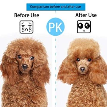 ACE2ACE Haustier Hundebürste Katzenbürste, Haustier Bürsten, Haar Entferner Haustierbürste für Langhaar und Kurzhaar, Sauberes Haustierhaar von der Bürste mit Einem Knopf - 7