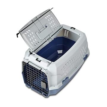 Amazon Basics Transportbox für Haustiere, 2 Türen, 1 Dachöffnung, 58cm - 4