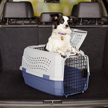 Amazon Basics Transportbox für Haustiere, 2 Türen, 1 Dachöffnung, 58cm - 7