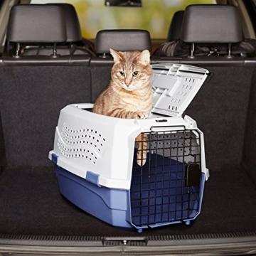 Amazon Basics Transportbox für Haustiere, 2 Türen, 1 Dachöffnung, 58cm - 8