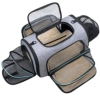 Erweiterbare Transporttasche Katze, Welpen, Öffnung an 4 Seiten, erweiterbar, Flugzeug-genehmigt, reisefreundlich, faltbar, weiches Fleece-Bett für Haustiere, Transportbox, sicher und bequem - 1