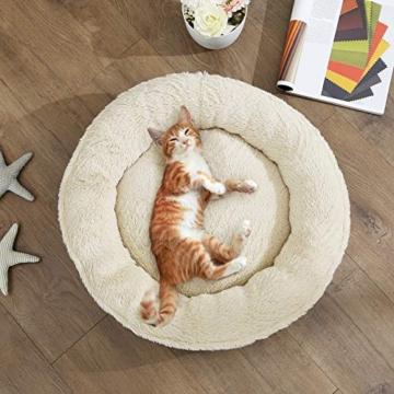 FEANDREA Hundebett, Hundekorb, Katzenbett, Donut, Ø 55 cm, dunkelgrau PGW055G01 - 2