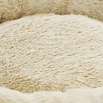 FEANDREA Hundebett, Hundekorb, Katzenbett, Donut, Ø 55 cm, dunkelgrau PGW055G01 - 4