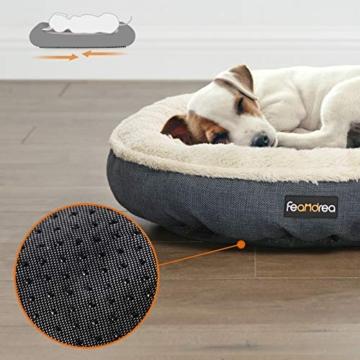 FEANDREA Hundebett, Hundekorb, Katzenbett, Donut, Ø 55 cm, dunkelgrau PGW055G01 - 5