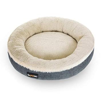 FEANDREA Hundebett, Hundekorb, Katzenbett, Donut, Ø 55 cm, dunkelgrau PGW055G01 - 7