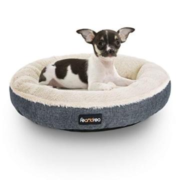 FEANDREA Hundebett, Hundekorb, Katzenbett, Donut, Ø 55 cm, dunkelgrau PGW055G01 - 8