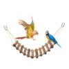 Huahao Vögel Holzleiter Vogel Ladder Spielzeug für Parrot Papageien Hamster Wellensittich, Vogel Hängebrücke Leitern für Vogelkäfige - 1