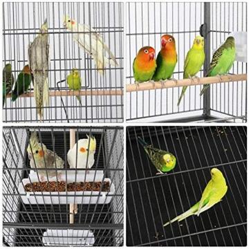 Yaheetech Vogelvoliere Nagerkäfig aus Metall Vogelkäfig mit schmutzwanneneinsatz für Nymphensittiche, Papageien, Tauben, Sittiche, Finken - 5