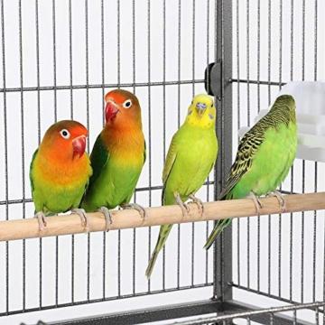 Yaheetech Vogelvoliere Nagerkäfig aus Metall Vogelkäfig mit schmutzwanneneinsatz für Nymphensittiche, Papageien, Tauben, Sittiche, Finken - 8