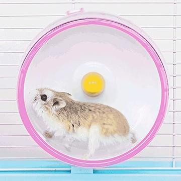 Yemiany Hamsterlaufrad, hamsterrad leise laufräder für kleintiere, Robust, leicht, umweltfreundlich und langlebig, geeignet für Hamster, Rennmäuse usw. 1 Stück (17,5cm) - 5
