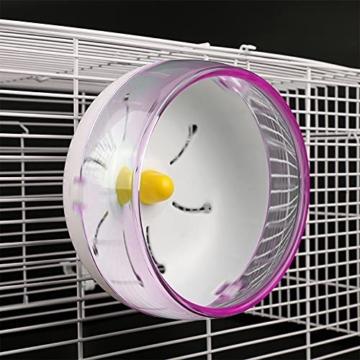 Yemiany Hamsterlaufrad, hamsterrad leise laufräder für kleintiere, Robust, leicht, umweltfreundlich und langlebig, geeignet für Hamster, Rennmäuse usw. 1 Stück (17,5cm) - 6