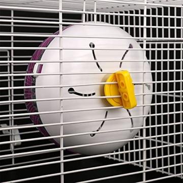 Yemiany Hamsterlaufrad, hamsterrad leise laufräder für kleintiere, Robust, leicht, umweltfreundlich und langlebig, geeignet für Hamster, Rennmäuse usw. 1 Stück (17,5cm) - 7