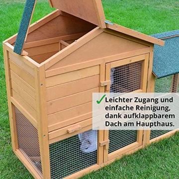 zooprinz Kaninchen-Villa Hasenstall Haupthaus mit Kuschelplatz für ihre Hasen - unten viel Auslauf für Kleintiere: Hasen Kaninchen Meerschweinchen - 2