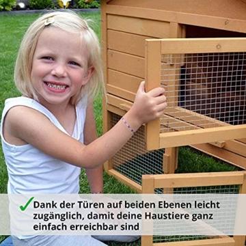 zooprinz Kaninchen-Villa Hasenstall Haupthaus mit Kuschelplatz für ihre Hasen - unten viel Auslauf für Kleintiere: Hasen Kaninchen Meerschweinchen - 4
