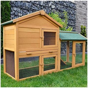 zooprinz Kaninchen-Villa Hasenstall Haupthaus mit Kuschelplatz für ihre Hasen - unten viel Auslauf für Kleintiere: Hasen Kaninchen Meerschweinchen - 1