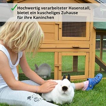 zooprinz Kaninchen-Villa Hasenstall Haupthaus mit Kuschelplatz für ihre Hasen - unten viel Auslauf für Kleintiere: Hasen Kaninchen Meerschweinchen - 5