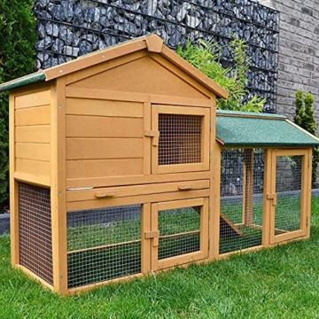 zooprinz Kaninchen-Villa Hasenstall Haupthaus mit Kuschelplatz für ihre Hasen - unten viel Auslauf für Kleintiere: Hasen Kaninchen Meerschweinchen - 7
