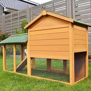 zooprinz Kaninchen-Villa Hasenstall Haupthaus mit Kuschelplatz für ihre Hasen - unten viel Auslauf für Kleintiere: Hasen Kaninchen Meerschweinchen - 8