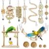 Allazone 13 Stück Sitzstangen Vögel, Papageienschaukel Vogelschaukel Schaukel, Sitzstangen für Vögel, Vögel Spielzeug Vogel Papagei Schaukel Spielzeug - 1