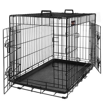 FEANDREA Hundekäfig, Hundebox, klappbar, 77,5 x 48,5 x 55,5 cm, schwarz PPD30H - 1