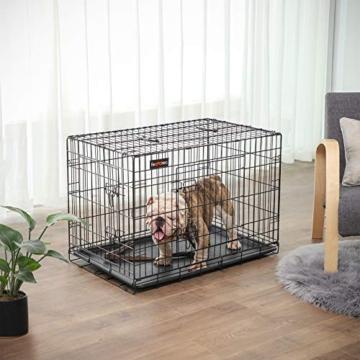 FEANDREA Hundekäfig, Hundebox, klappbar, 77,5 x 48,5 x 55,5 cm, schwarz PPD30H - 3