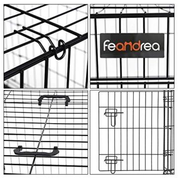 FEANDREA Hundekäfig, Hundebox, klappbar, 77,5 x 48,5 x 55,5 cm, schwarz PPD30H - 4