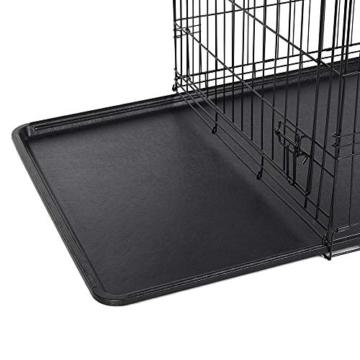 FEANDREA Hundekäfig, Hundebox, klappbar, 77,5 x 48,5 x 55,5 cm, schwarz PPD30H - 6