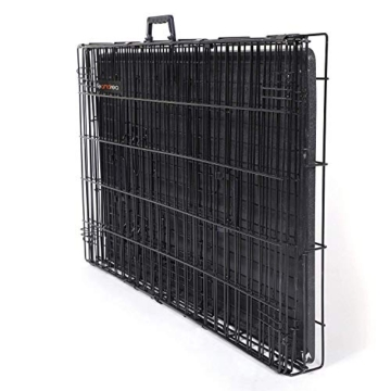 FEANDREA Hundekäfig, Hundebox, klappbar, 77,5 x 48,5 x 55,5 cm, schwarz PPD30H - 8