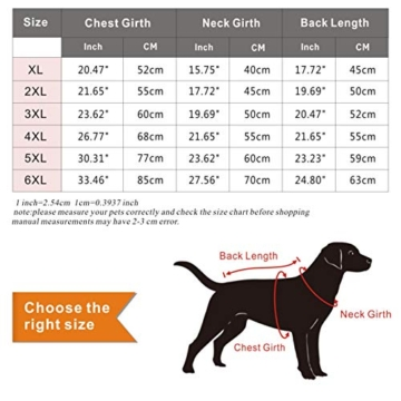Idepet Wasserdichter Hundemantel für den Winter, Warme Jacke, Outdoor-Sport, wasserdichte Hundekleidung, Weste für kleine, mittelgroße und große Hunde mit Loch für Geschirr - 7