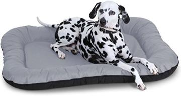 Knuffelwuff Hundebett Lucky In und Outdoor Hundekissen Hundesofa Hundekörbchen Hundekorb, Größe XXL Grau - 1