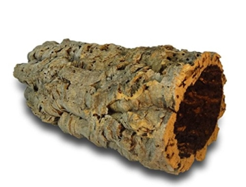 Kork-Deko Korkrinde   Korkröhre   Korktunnel   Baumstammtunnel   gereinigt & desinfiziert ca. 30 cm lang , Ø = 11-14 cm (Innen-Durchmesser) - 1